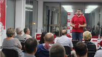 Kandidat za predsjednika SDP-a Peđa Grbin u Virovitici: Malo smo se pogubili, vrijeme je da se dignemo iz ponora