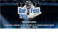 Darfest raspisao natječaj za nove skladbe. Otvoren je do 23. listopada