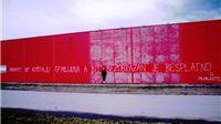 Čišćenje grada pred lokalne izbore: Opet je prebojan grafit Ive Anzulović na nekadašnjoj Billi