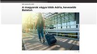 Naši susjedi bi u Hrvatsku: Više Jadrana, manje Balatona