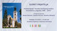 U Gradskoj knjižnici i čitaonici bit će predstavljena Kronika Zavičajnog društva Virovitičana u Zagrebu