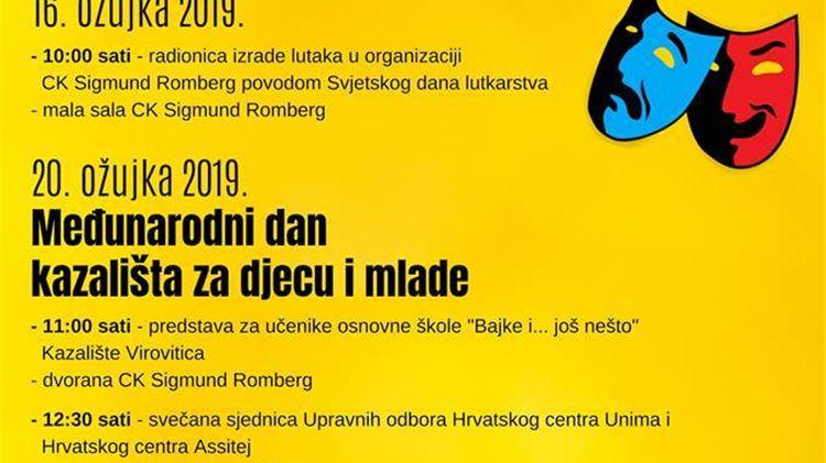 Kazalište Virovitica na Međunarodnom danu kazališta za djecu i mlade i  Svjetskom dan lutkarstva, pročitajte čestitku Srećka Šestana